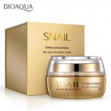 Крем для лица Bioaqua Snail Repair & Brightening, 50 мл (Подмята коробка!)