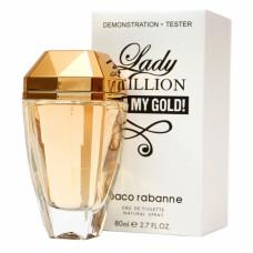 ТЕСТЕР PACO RABANNE LADY MILLION EAU MY GOLD, 80 МЛ